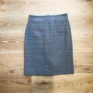 J Crew EUC size 2 gray pencil skirt